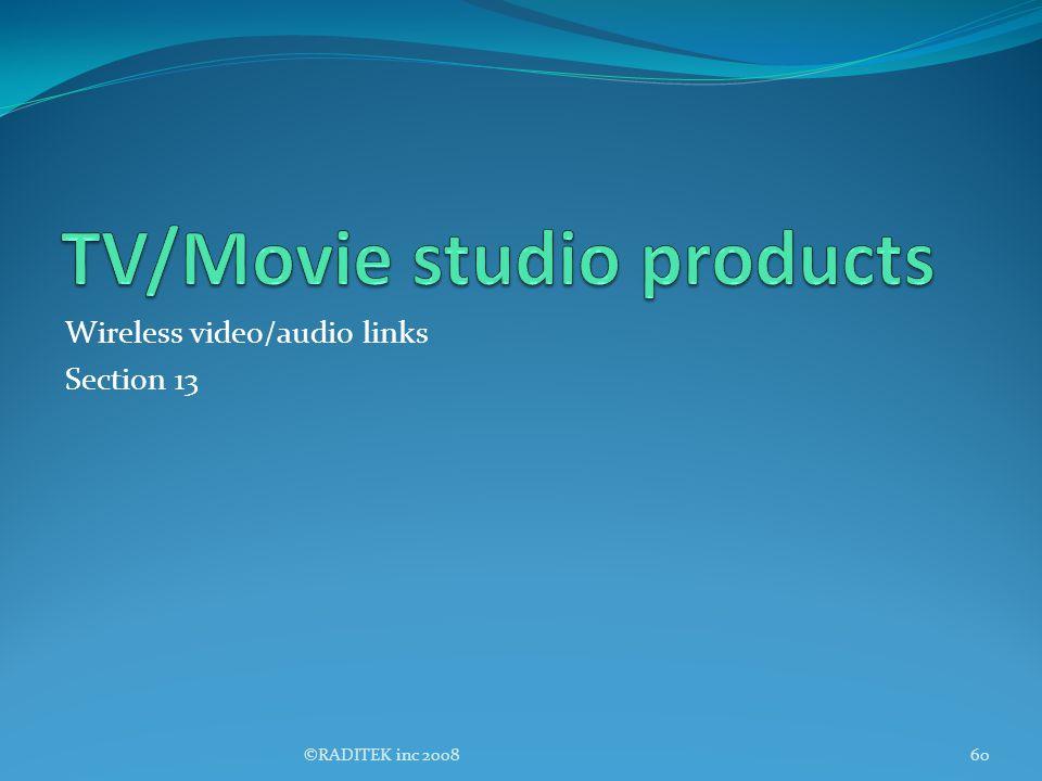 TV/Movie studio products