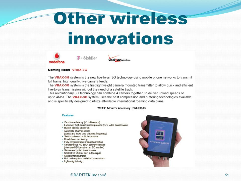 Other wireless innovations