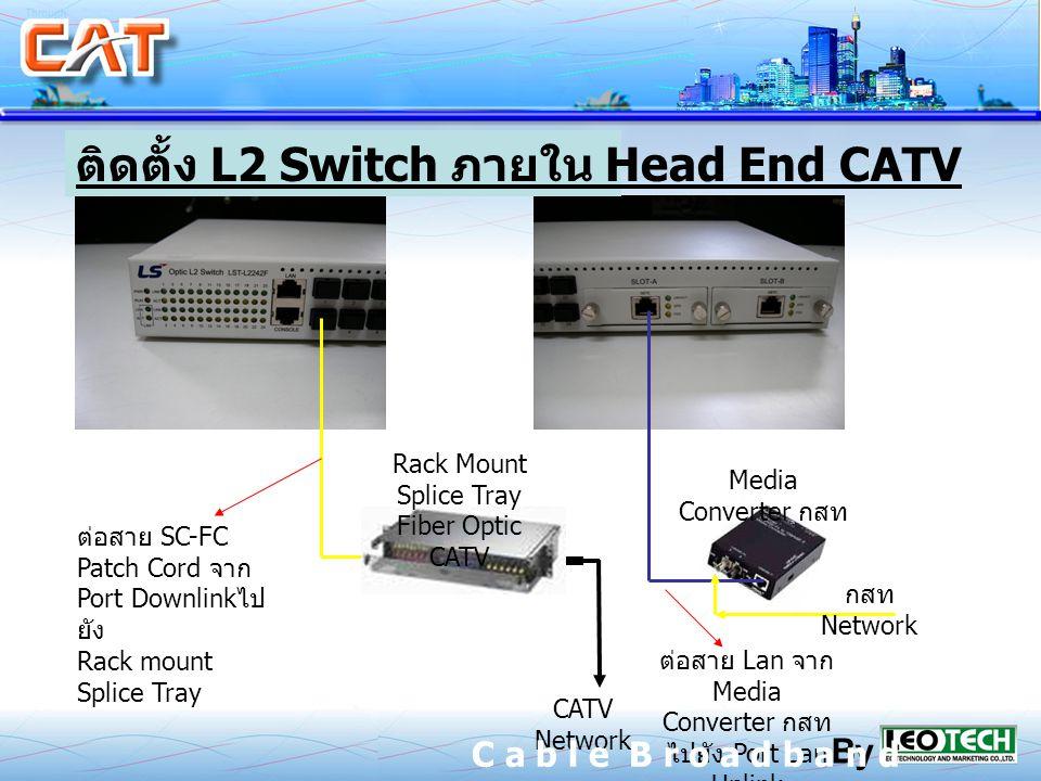 ติดตั้ง L2 Switch ภายใน Head End CATV