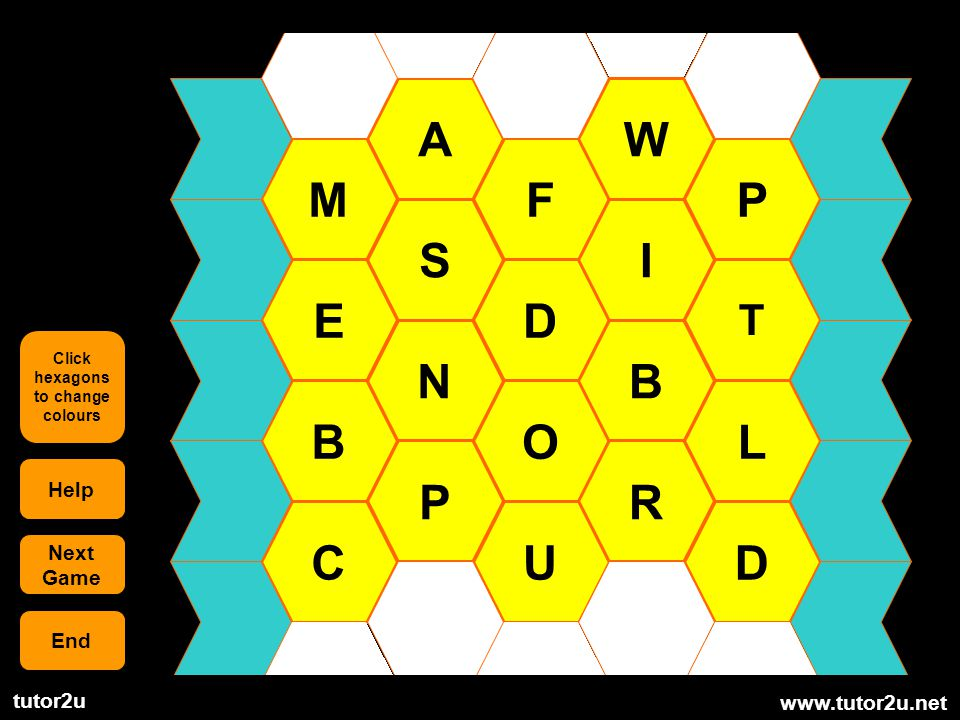 Click hexagons to change colours