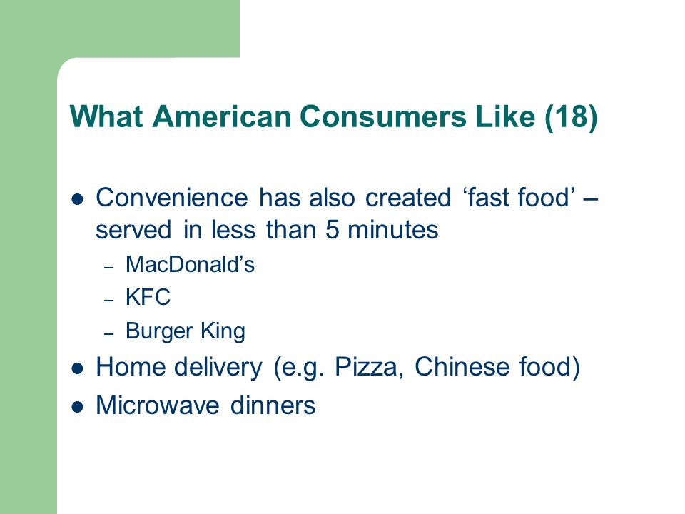 What American Consumers Like (18)