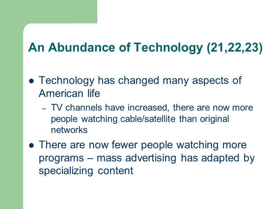 An Abundance of Technology (21,22,23)
