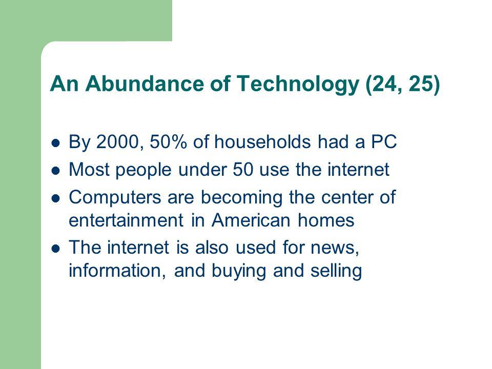 An Abundance of Technology (24, 25)