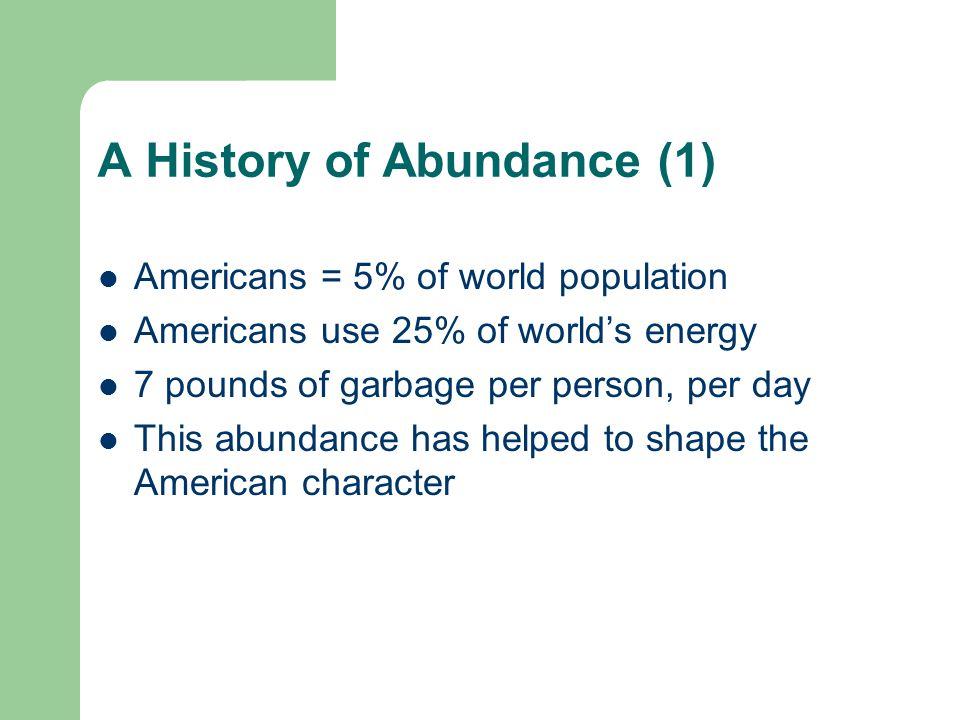 A History of Abundance (1)