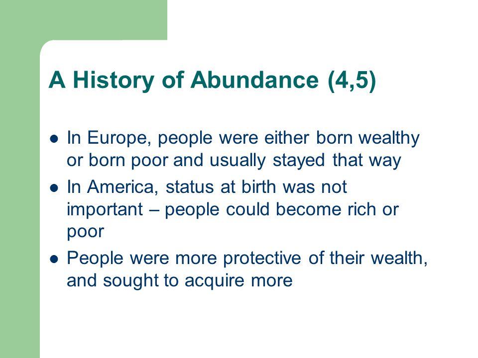 A History of Abundance (4,5)