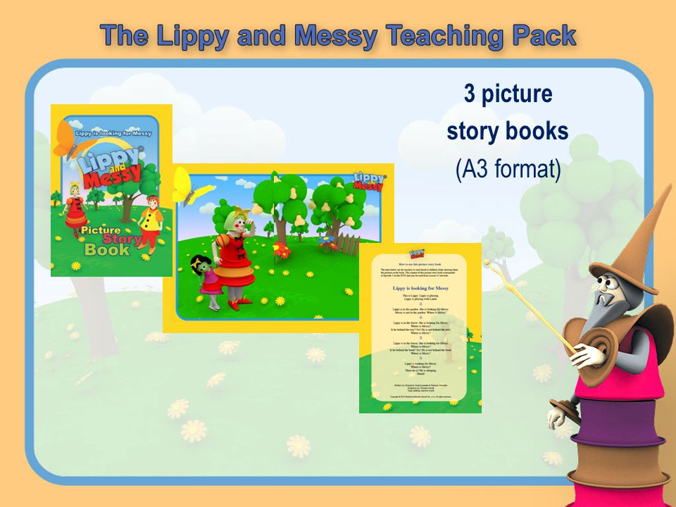 3 picture story books (A3 format)
