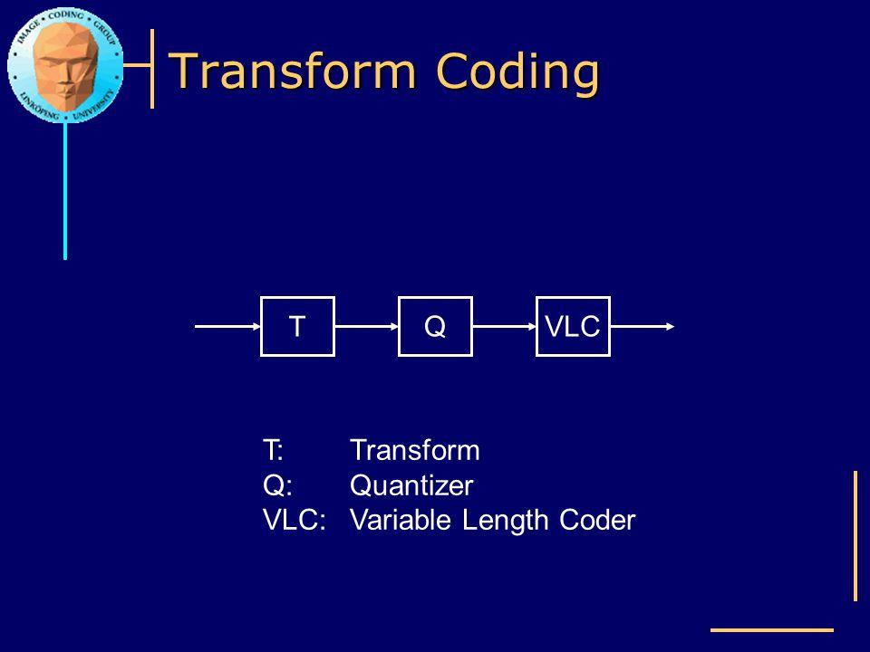Transform Coding T Q VLC