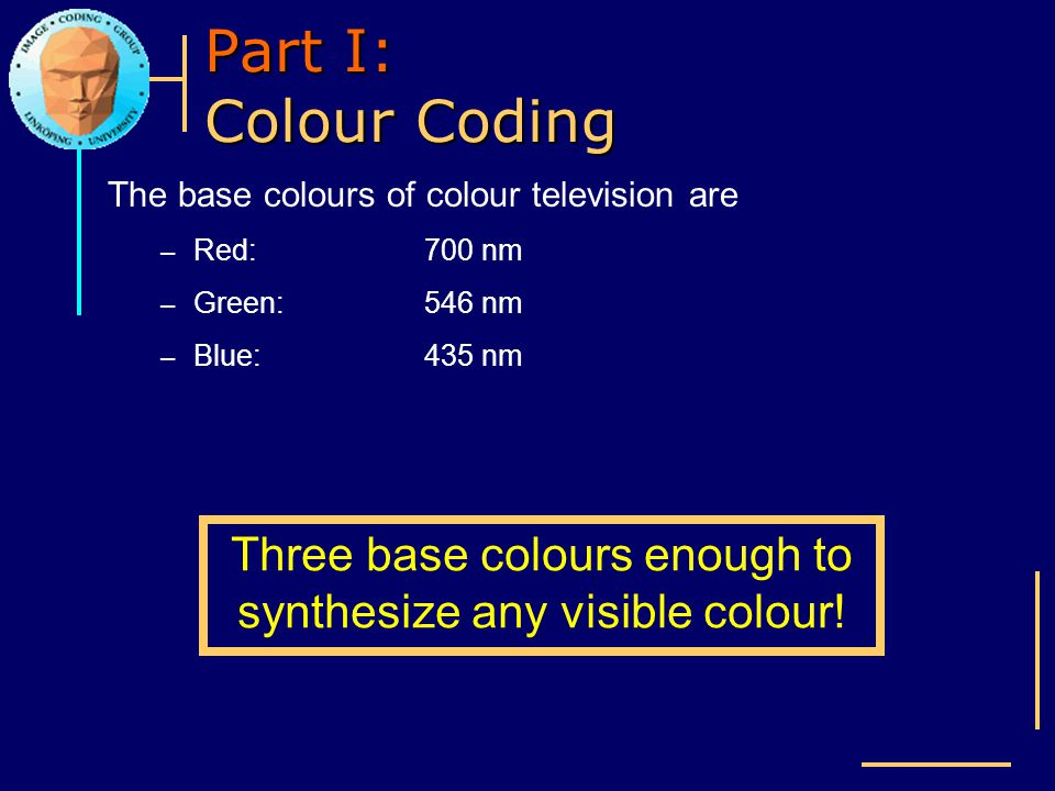 Three base colours enough to synthesize any visible colour!