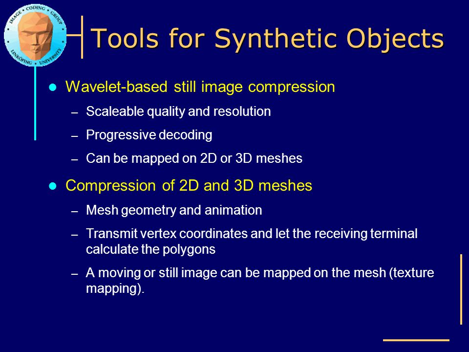 Tools for Synthetic Objects