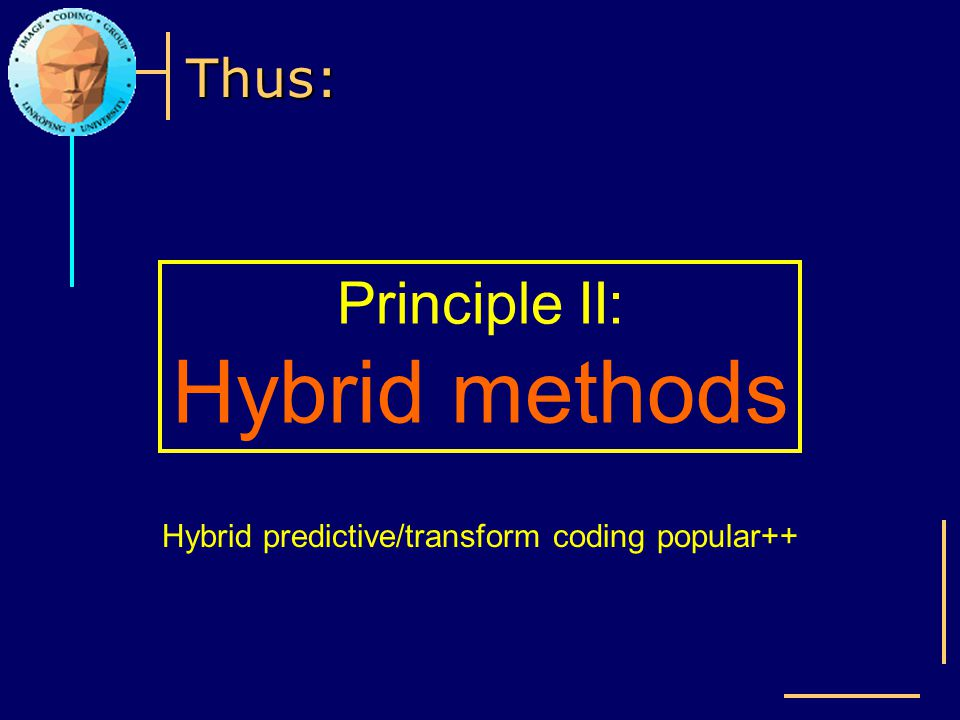 Hybrid predictive/transform coding popular++