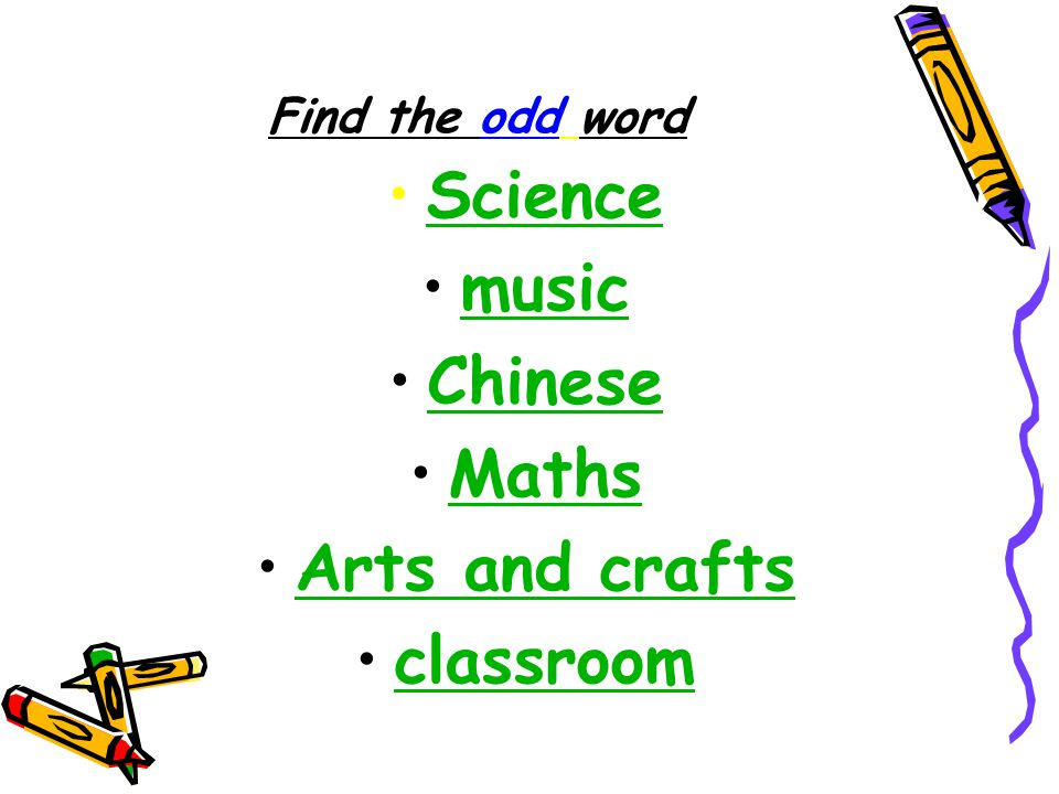 Science music Chinese Maths Arts and crafts classroom