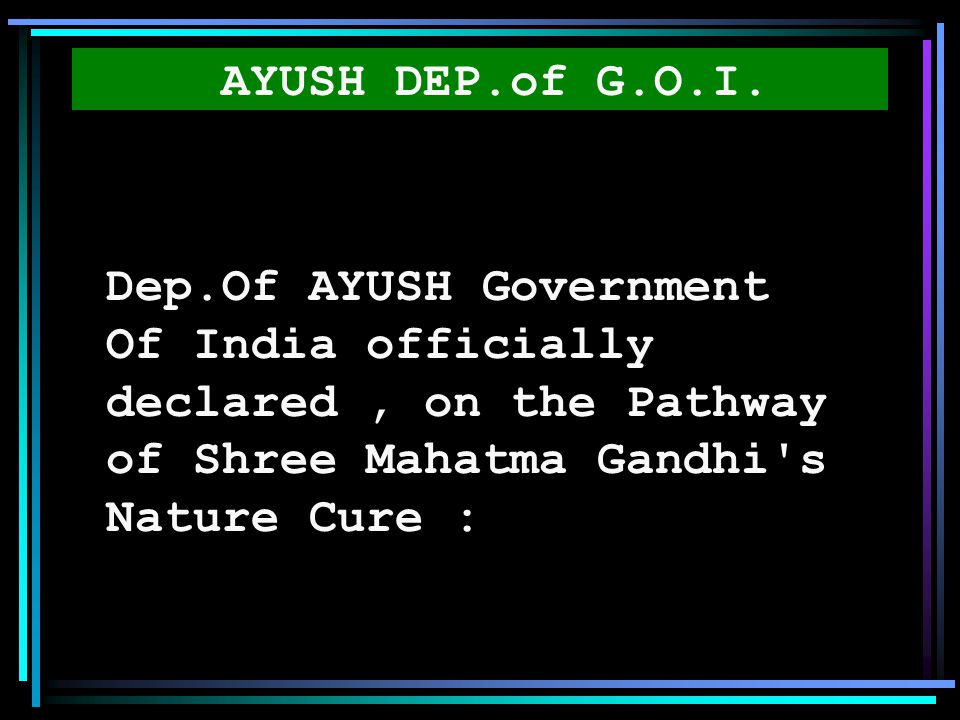 AYUSH DEP.of G.O.I.