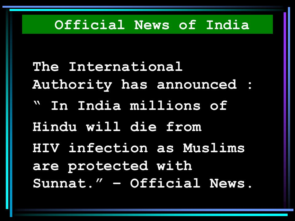 Official News of India The International Authority has announced : In India millions of. Hindu will die from.