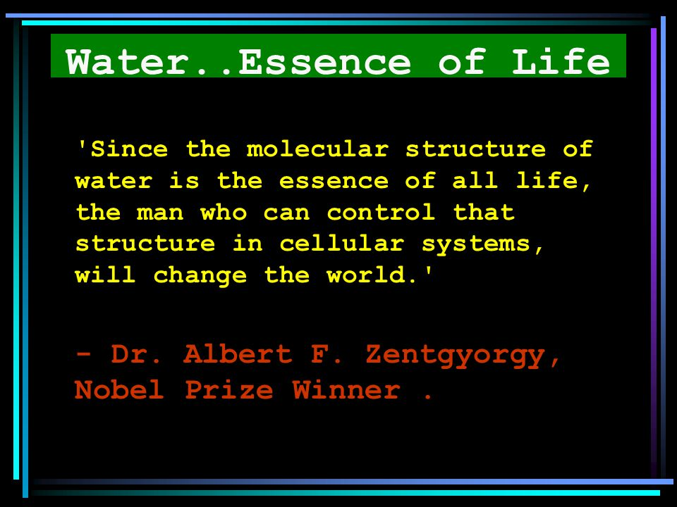 Water..Essence of Life