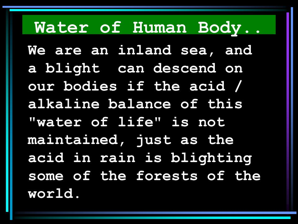 Water of Human Body..