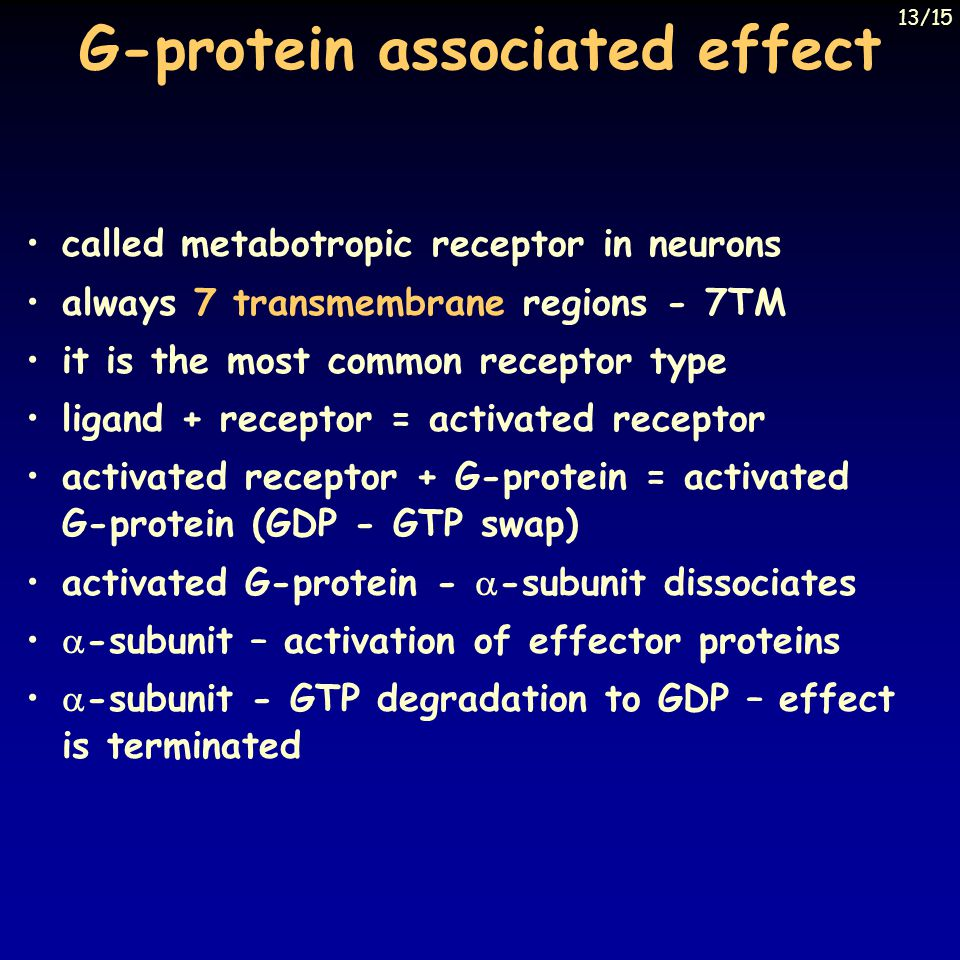 G-protein associated effect