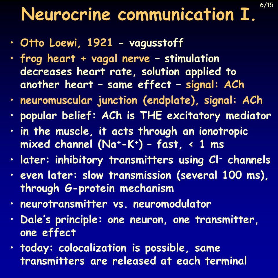 Neurocrine communication I.