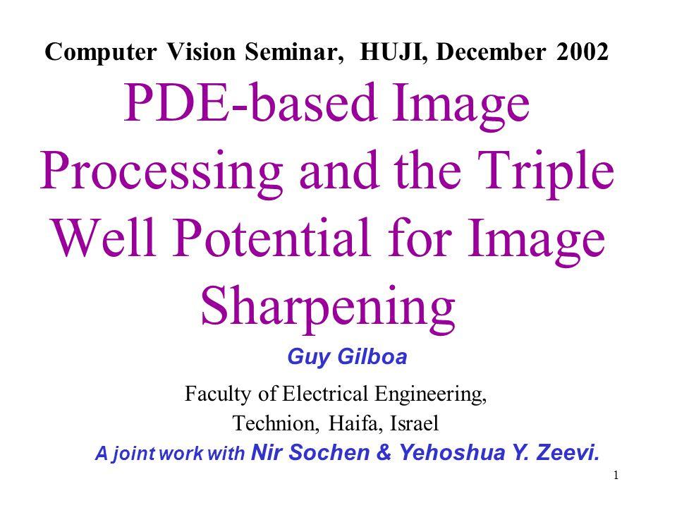 A joint work with Nir Sochen & Yehoshua Y. Zeevi.