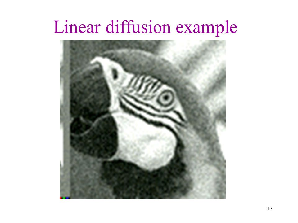 Linear diffusion example
