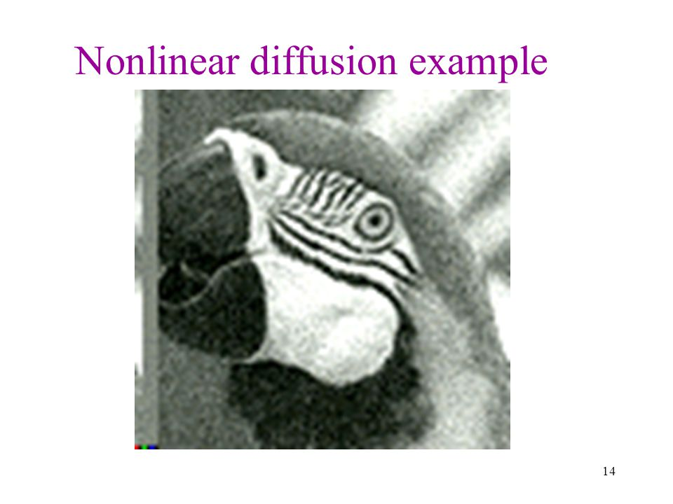 Nonlinear diffusion example