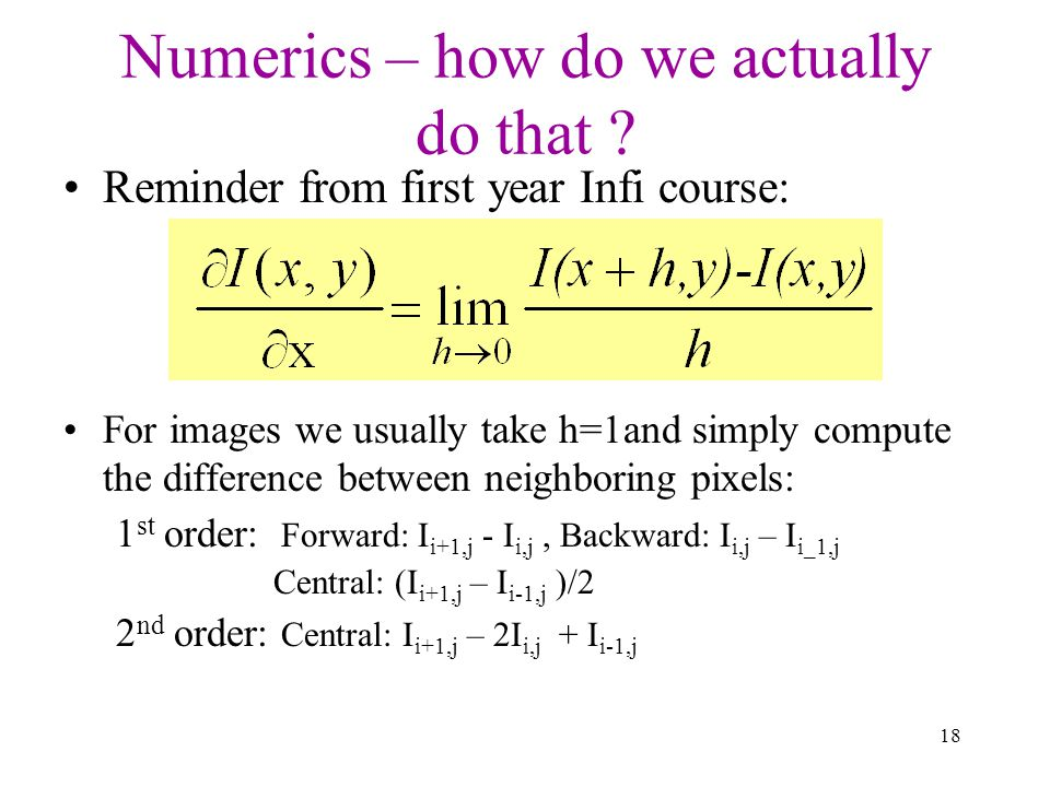 Numerics – how do we actually do that