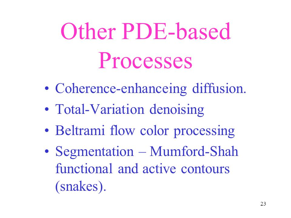 Other PDE-based Processes