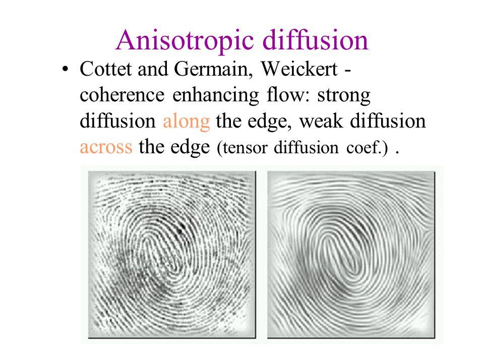 Anisotropic diffusion