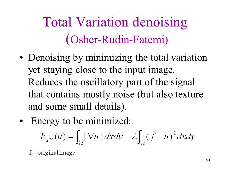 Total Variation denoising (Osher-Rudin-Fatemi)
