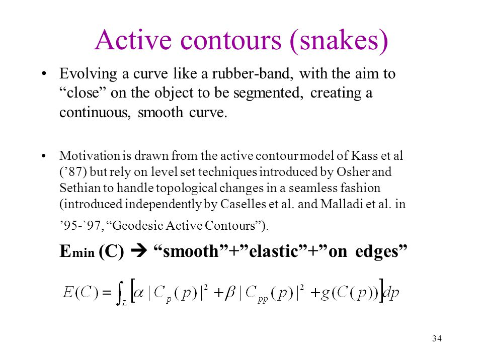 Active contours (snakes)