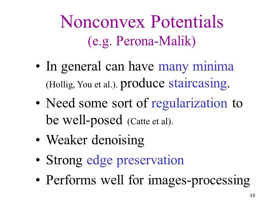 Nonconvex Potentials (e.g. Perona-Malik)