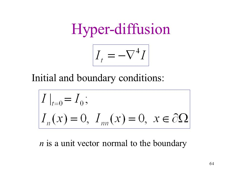 Hyper-diffusion Initial and boundary conditions: