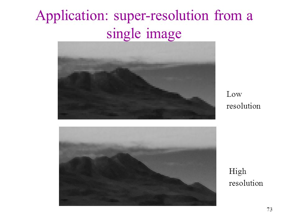 Application: super-resolution from a single image