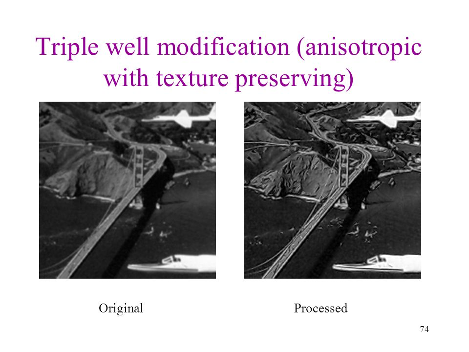 Triple well modification (anisotropic with texture preserving)