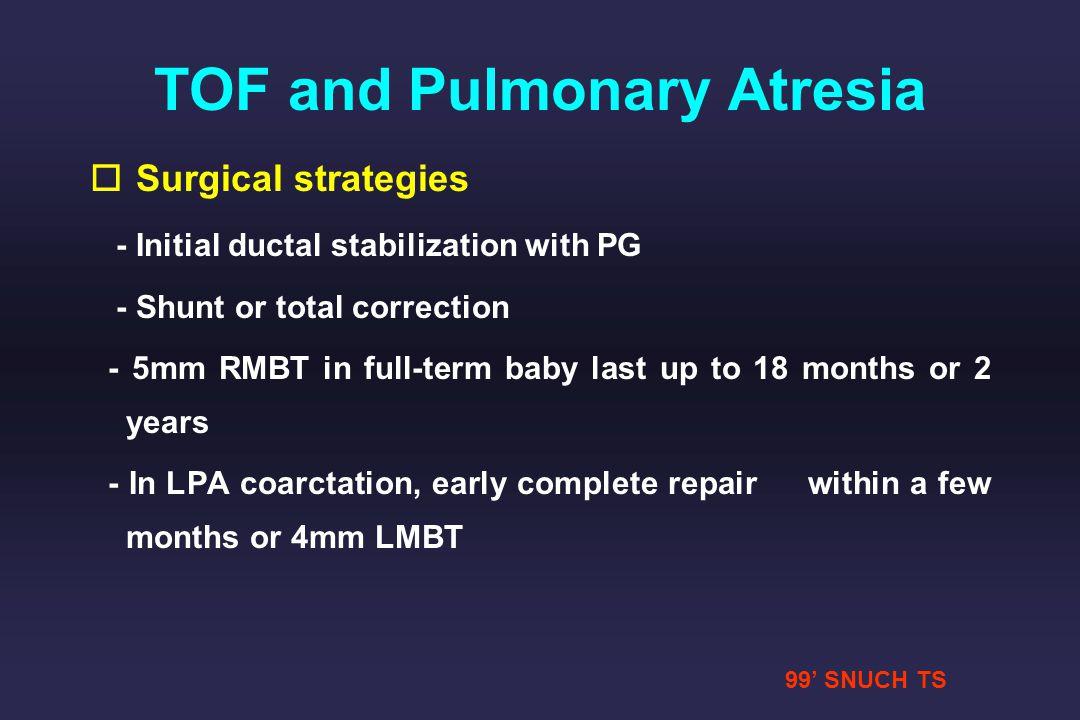 TOF and Pulmonary Atresia