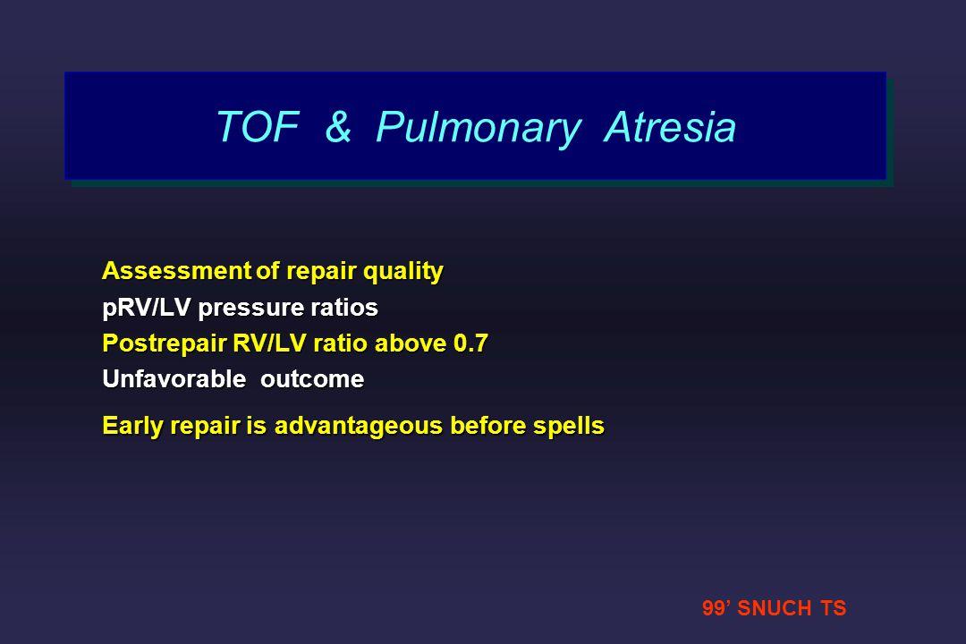 TOF & Pulmonary Atresia