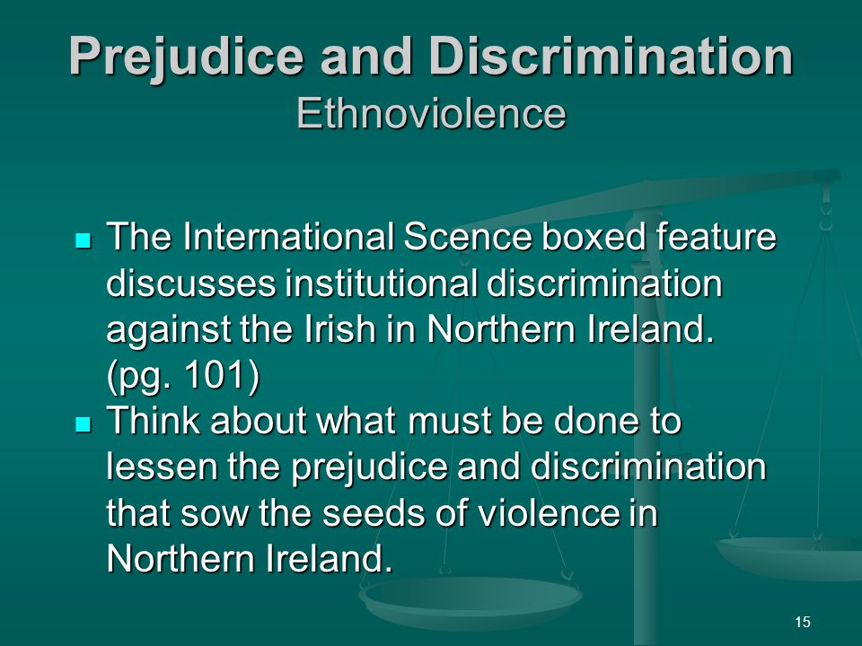 Prejudice and Discrimination Ethnoviolence
