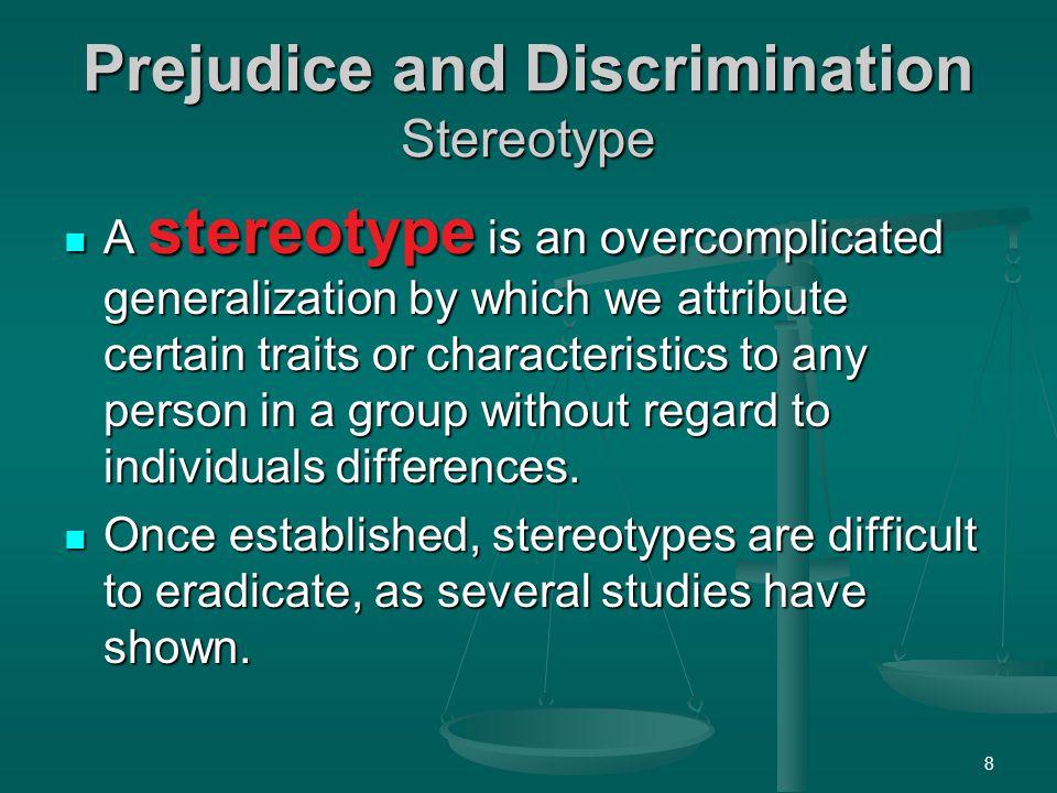 Prejudice and Discrimination Stereotype
