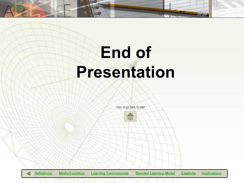 End of Presentation Click to go back to start