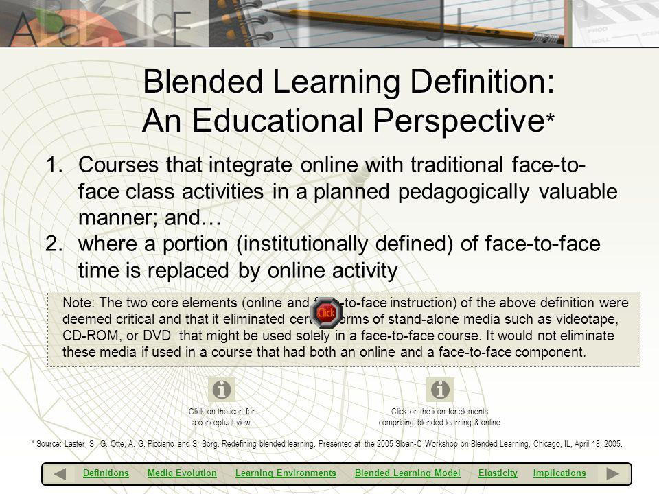 Blended Learning Definition: An Educational Perspective*