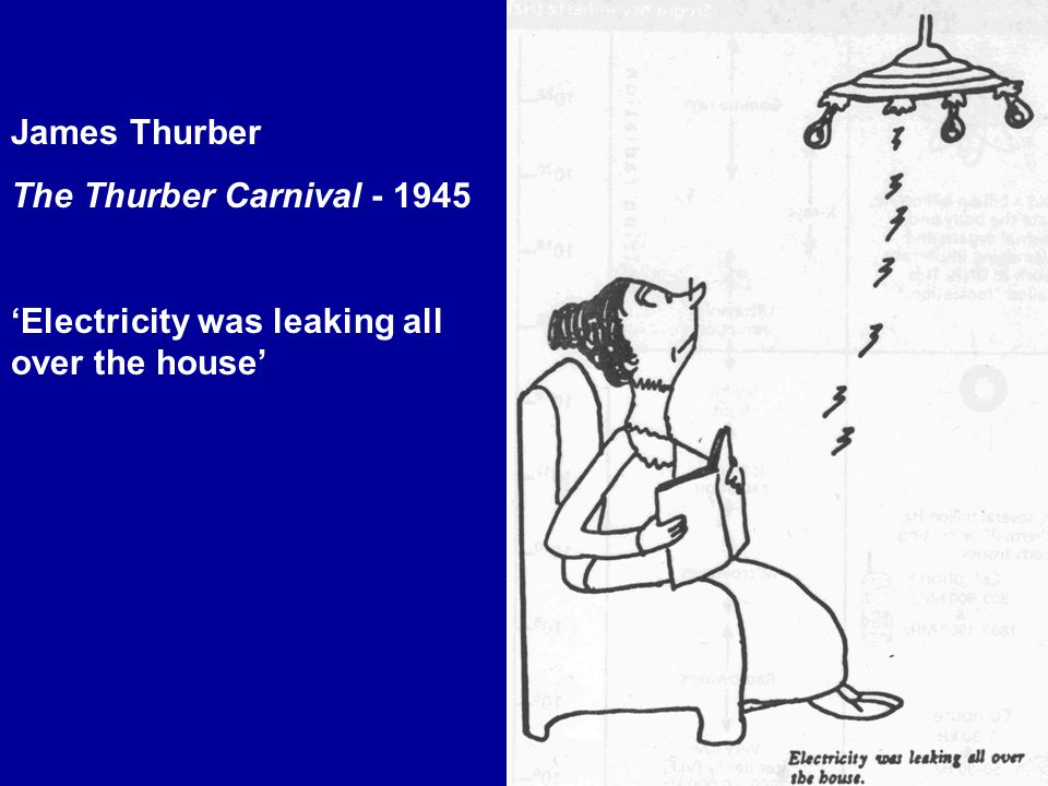 James Thurber The Thurber Carnival - 1945 'Electricity was leaking all over the house'