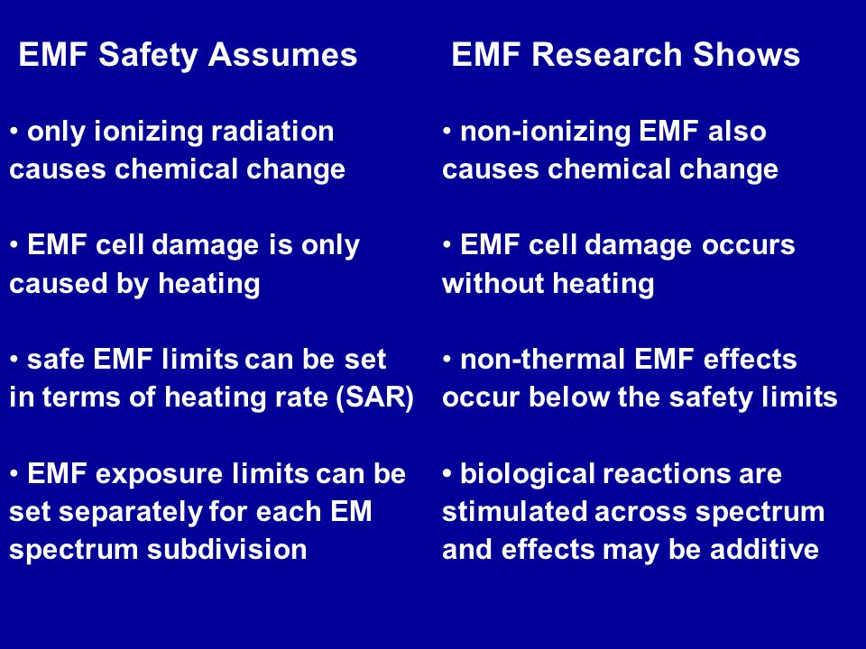 EMF Safety Assumes EMF Research Shows