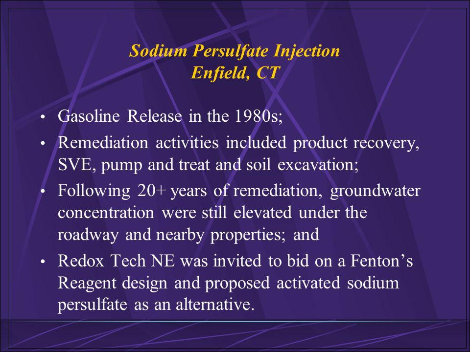 Sodium Persulfate Injection Enfield, CT