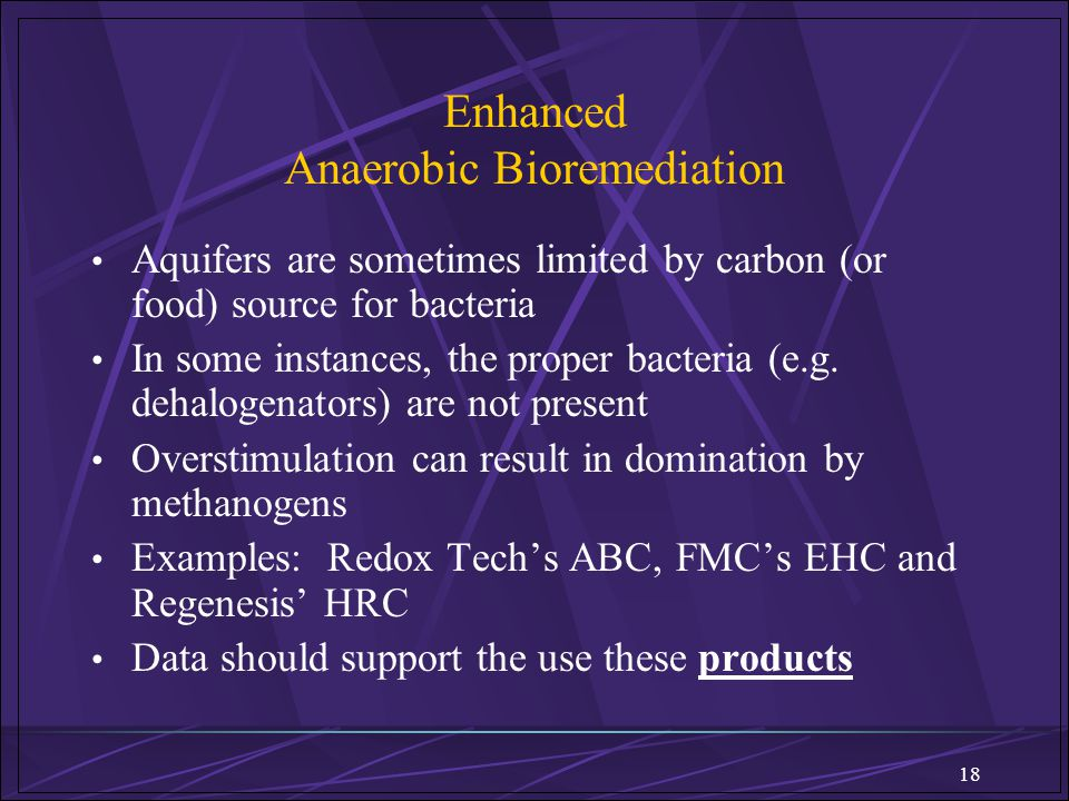 Enhanced Anaerobic Bioremediation