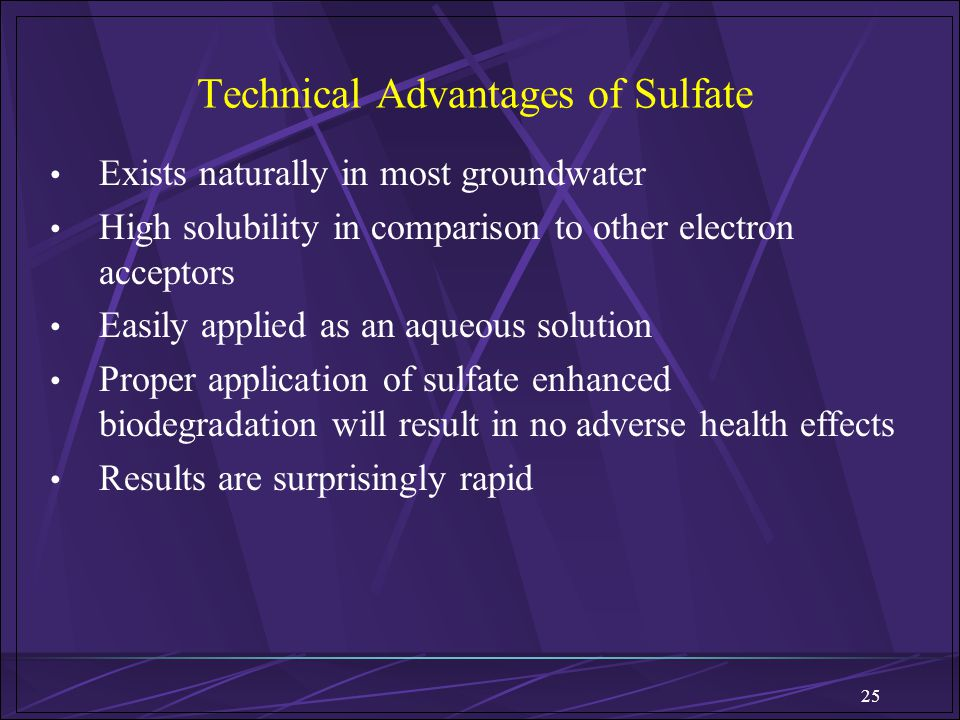 Technical Advantages of Sulfate