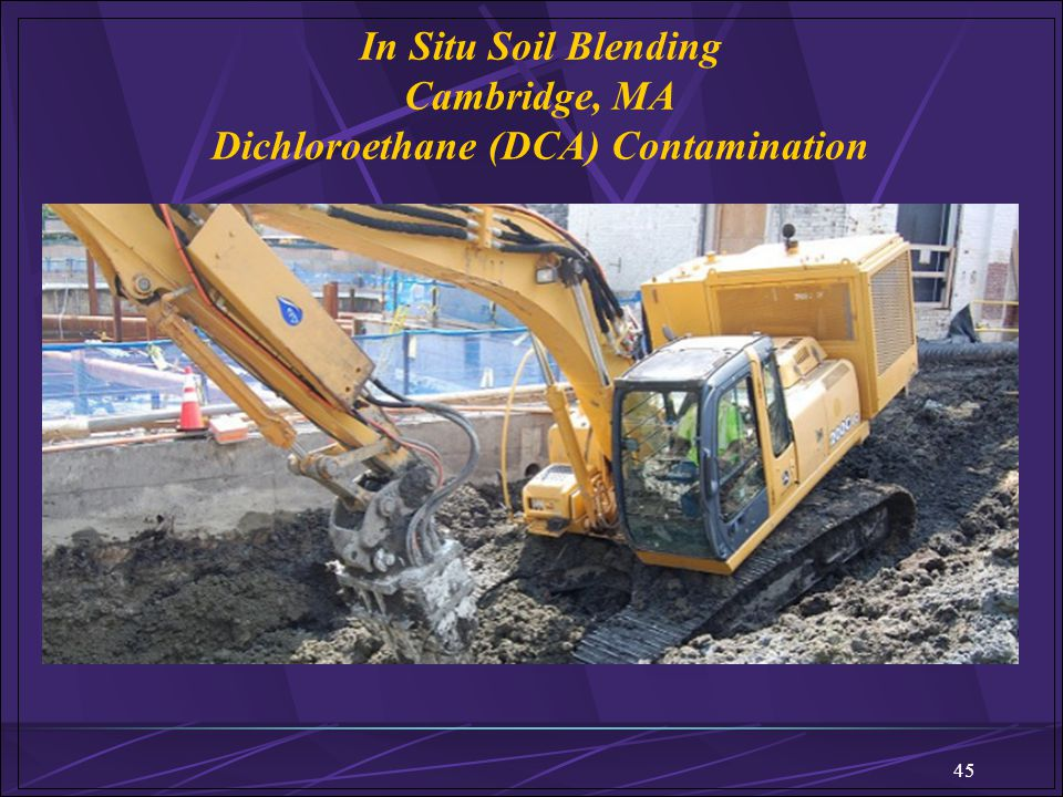 In Situ Soil Blending Cambridge, MA Dichloroethane (DCA) Contamination