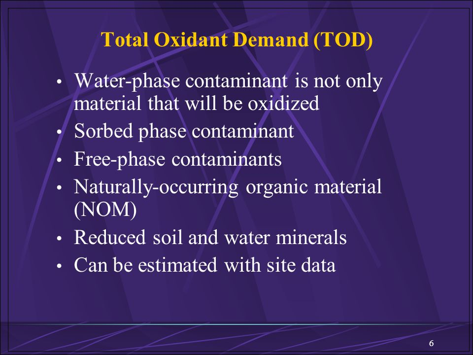 Total Oxidant Demand (TOD)