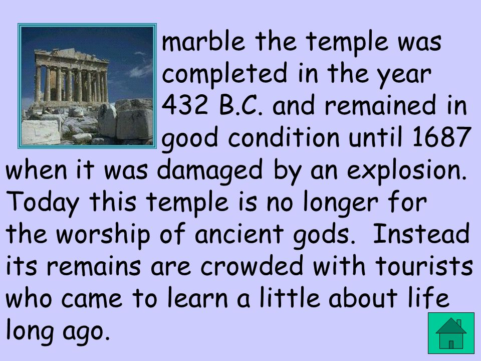 marble the temple was completed in the year 432 B. C