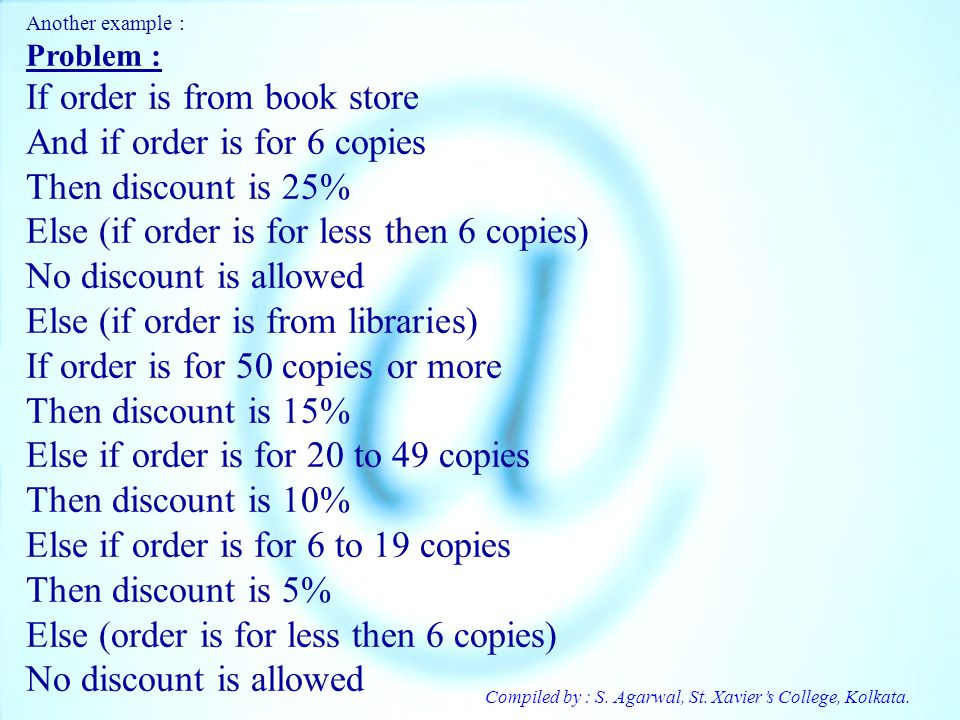 If order is from book store And if order is for 6 copies