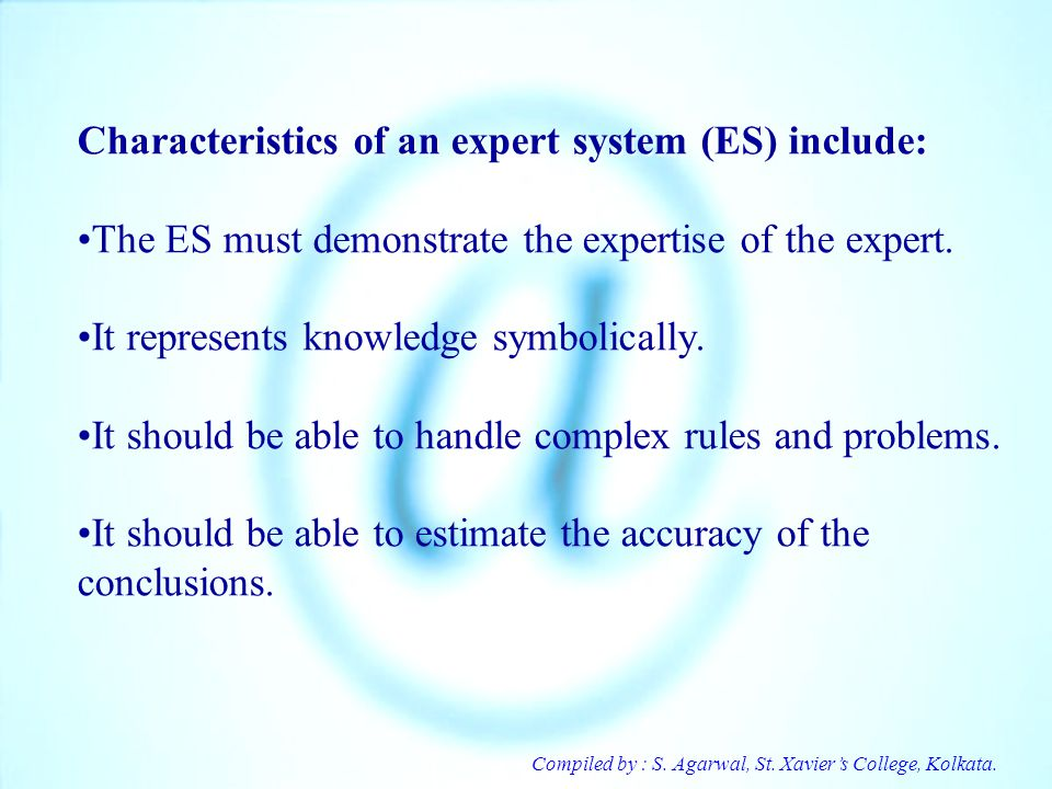 Characteristics of an expert system (ES) include: