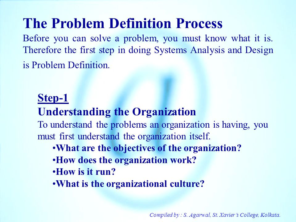 The Problem Definition Process